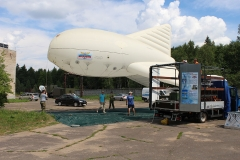 Tests of aerostats on the ground in Dmitrov